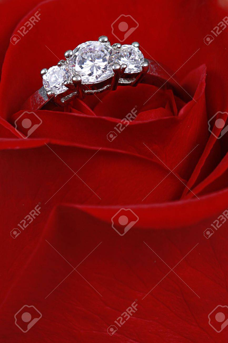Wedding Ring in Rose, Will you marry me? - 4180207