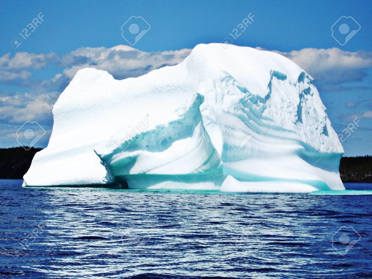 Ice Berg in Ocean off Newfoundland - 6354352