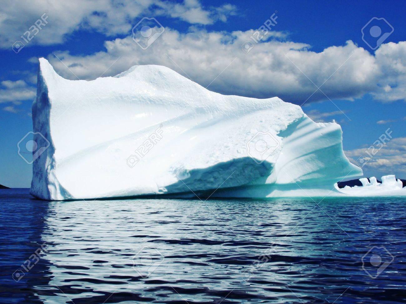 Ice Berg in Ocean off Newfoundland - 6354371