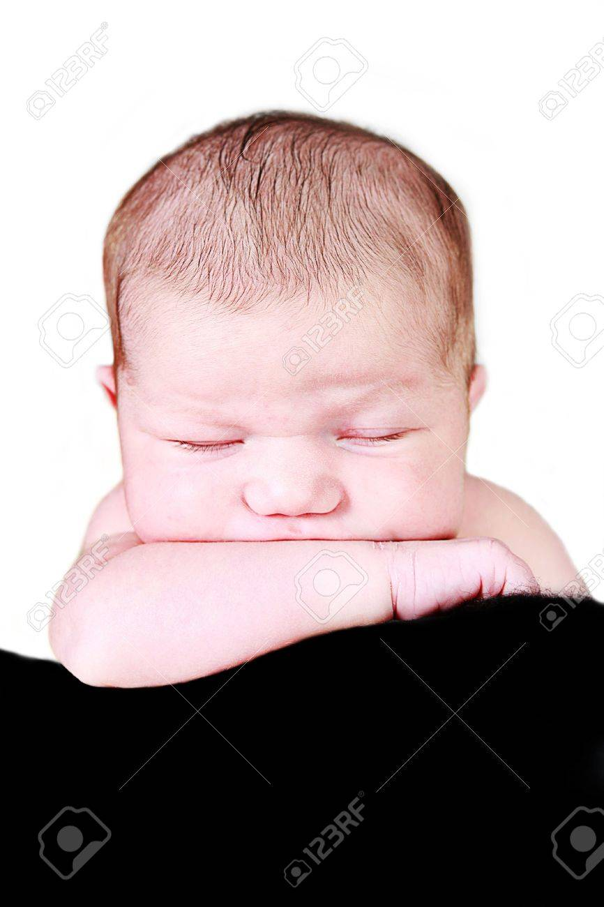 Little Baby Girl on sleeping with hand under chin - 6352513