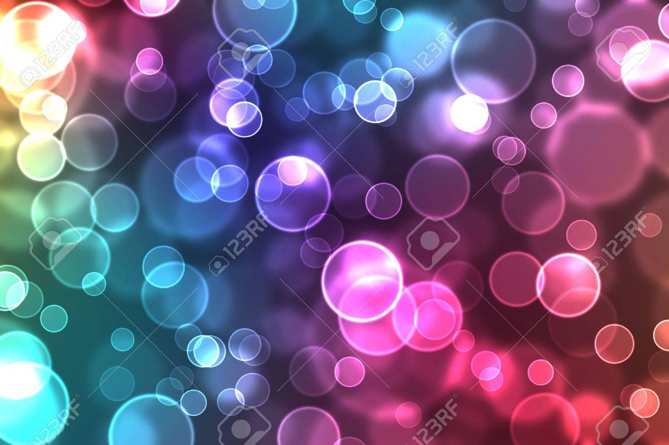 abstract glowing circles on a colorful background - 6791195