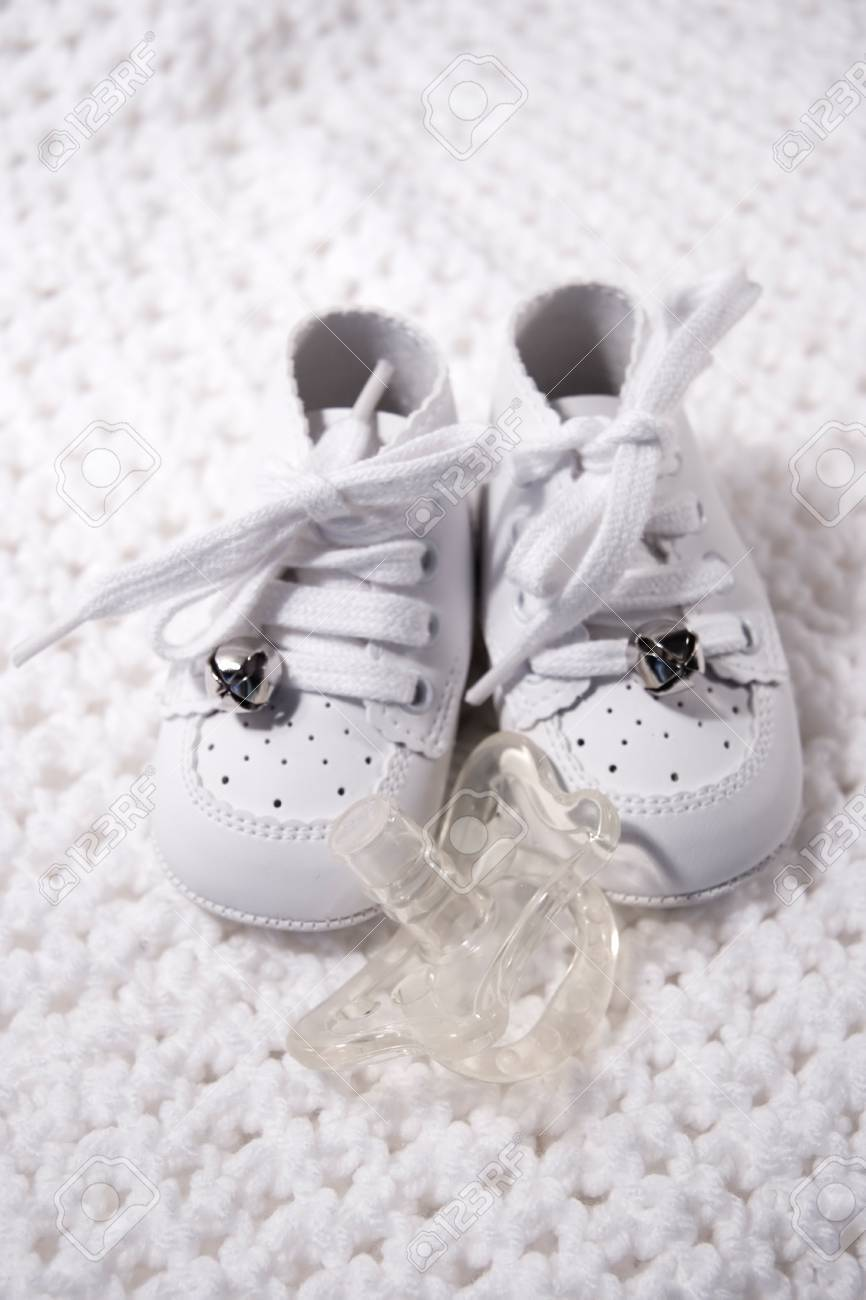 Pair of Babies first shoes with pacifier - 22146804