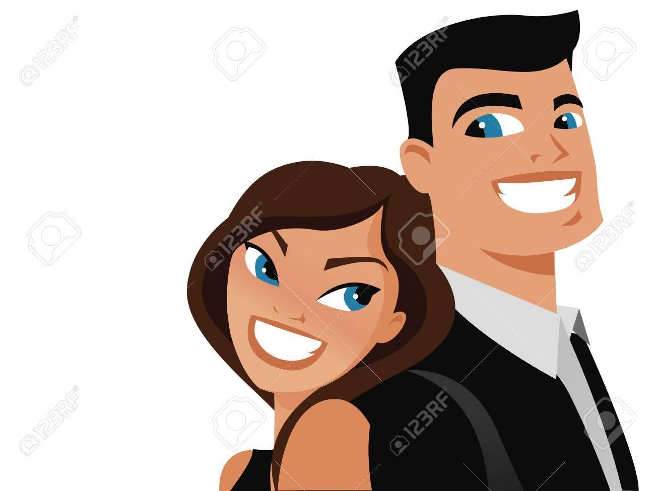 Happy couple vector Stock Vector - 8785733