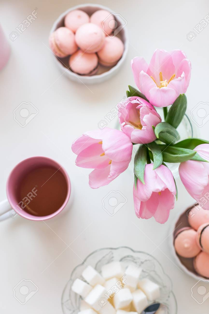 Spring tulips - a bouquet of sweets