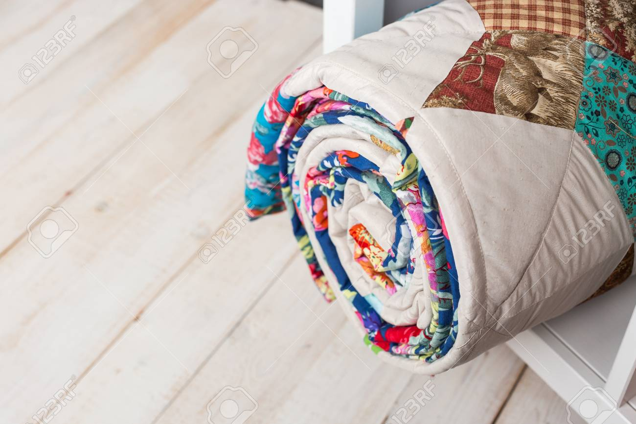 Patchwork Sewing And Fashion Concept Cute Colorful Quilted Stock Photo Picture And Royalty Free Image Image 78980383