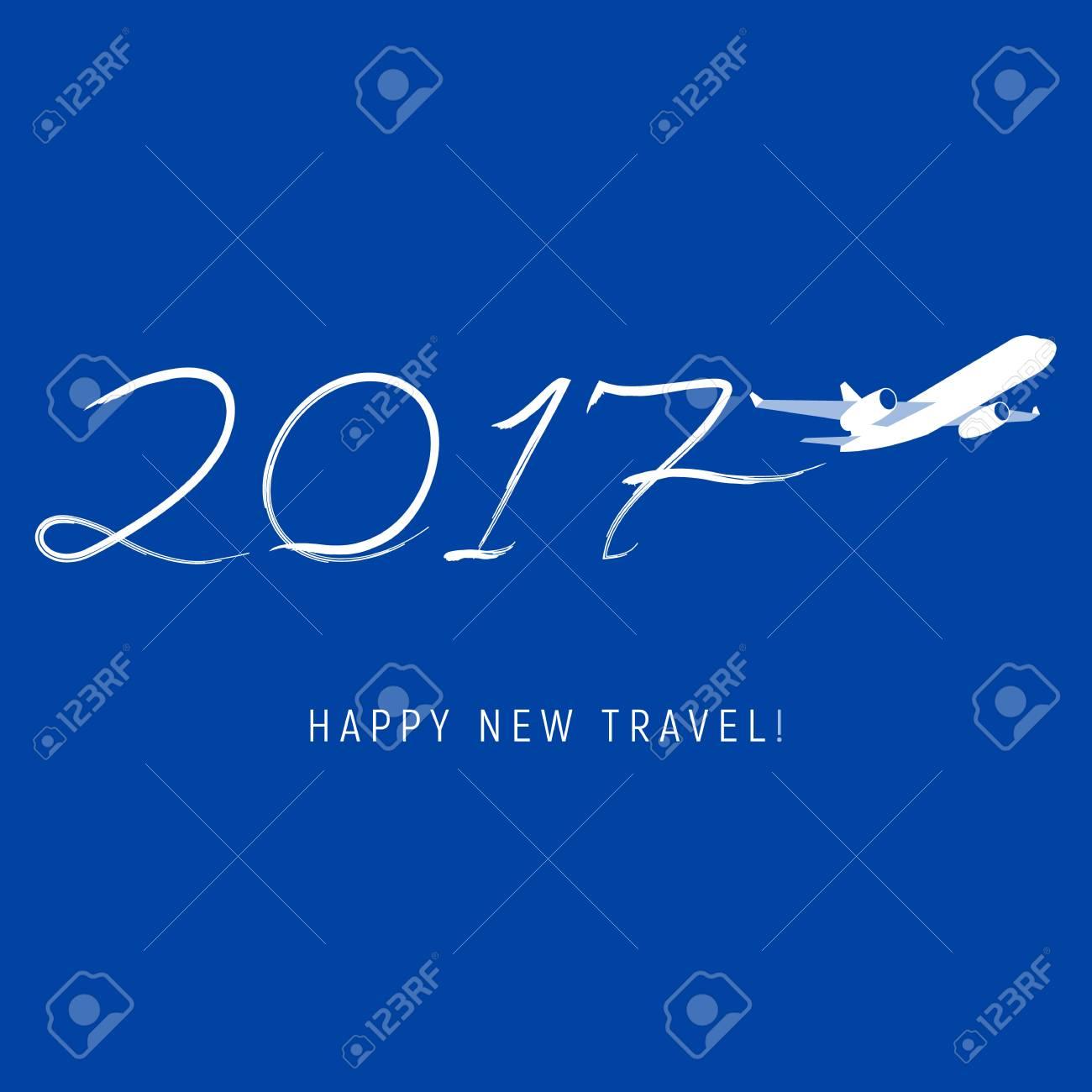 Konzept Des Neuen Jahres 2017 - Flugzeug Ließ Eine Spur In Form Von ...