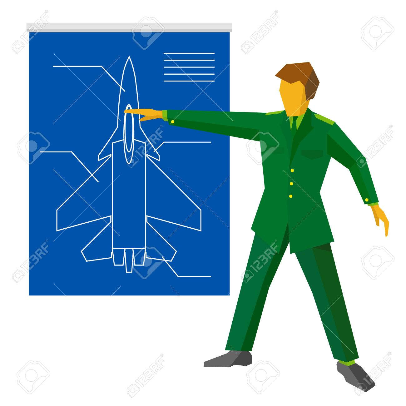 A man in green military uniform show blueprint with aircraft a man in green military uniform show blueprint with aircraft fighter army man on press malvernweather Image collections