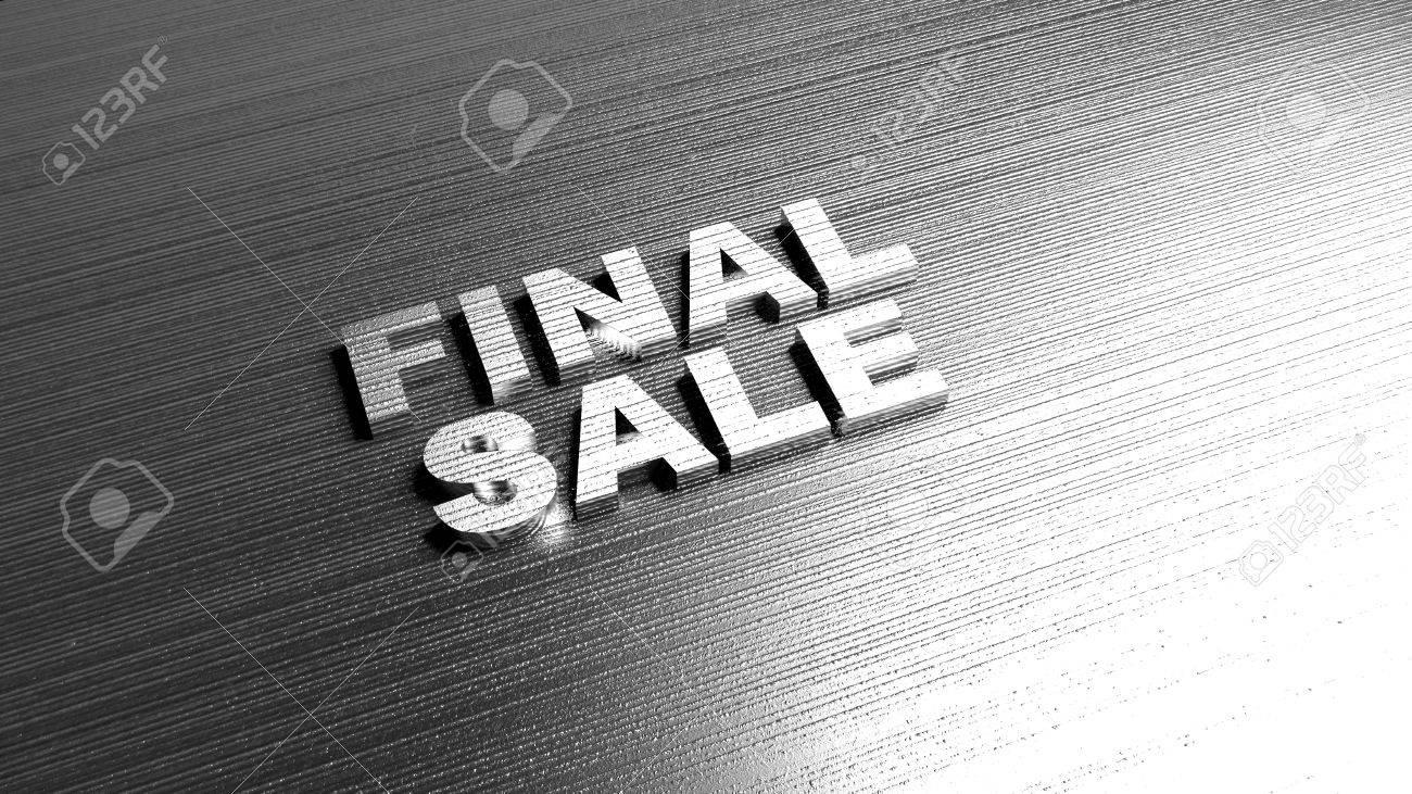 Lettering On Metal Metal Words 'final Sale' On Metal Surfacediscount Offer