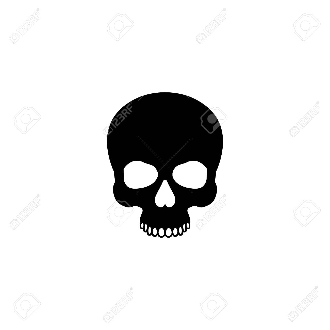 Flat Black Skull Icon Royalty Free Cliparts Vectors And Stock Illustration Image 143183588 Download 37 vector icons and icon kits.available in png, ico or icns icons for mac for free use. flat black skull icon