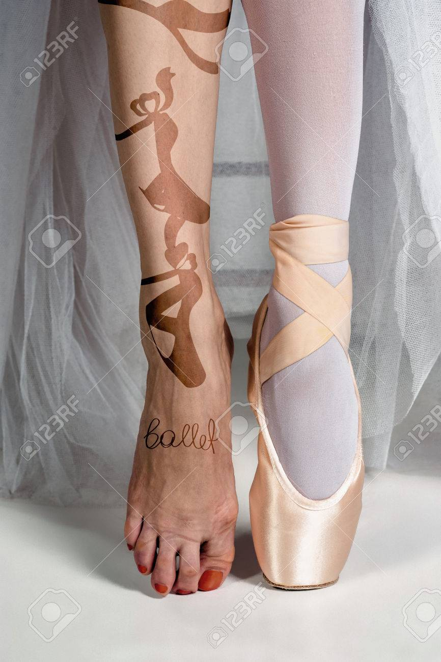 The Close Up Feet Of Young Ballerina In Pointe Shoes Stock Photo Picture And Royalty Free Image Image 71328048