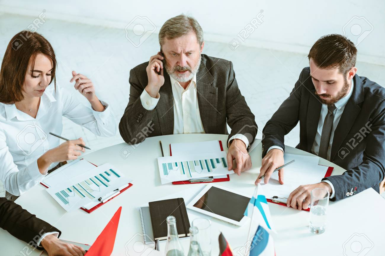 pictures of people working Business People Working Together Stock Photo, Picture And Royalty ...