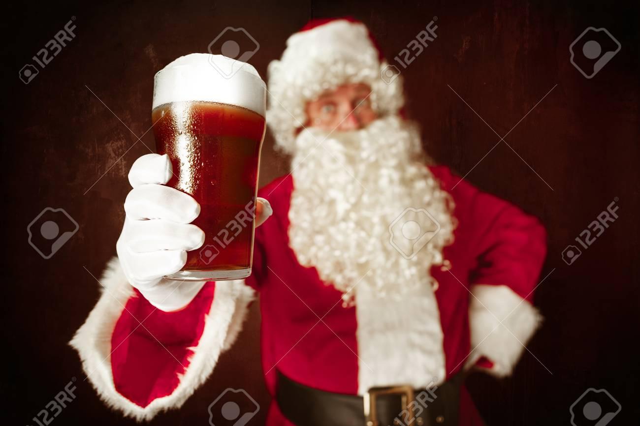 Portrait of Man in Santa Claus Costume - 91140492