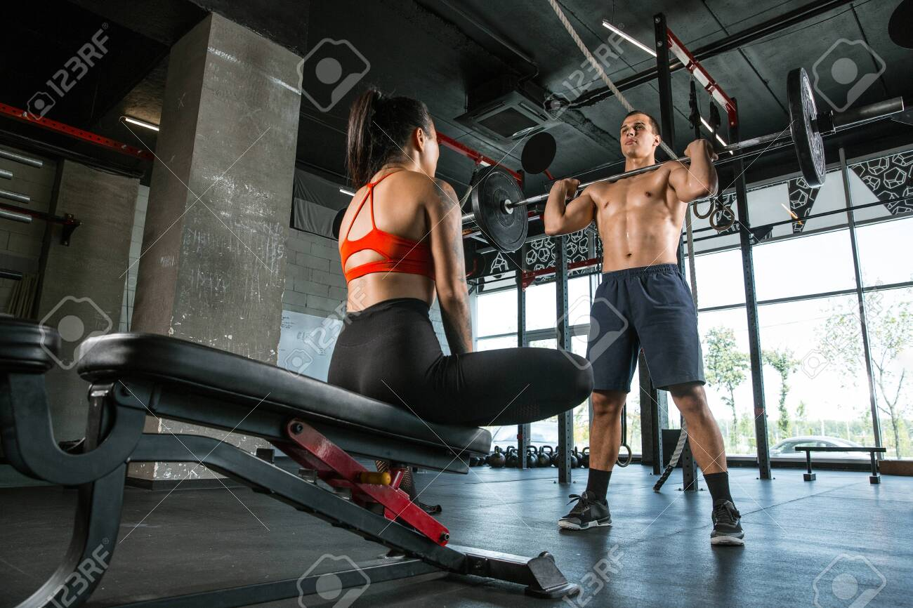 A Muscular Athletes Doing Workout At The Gym Gymnastics Training Stock Photo Picture And Royalty Free Image Image 128871721