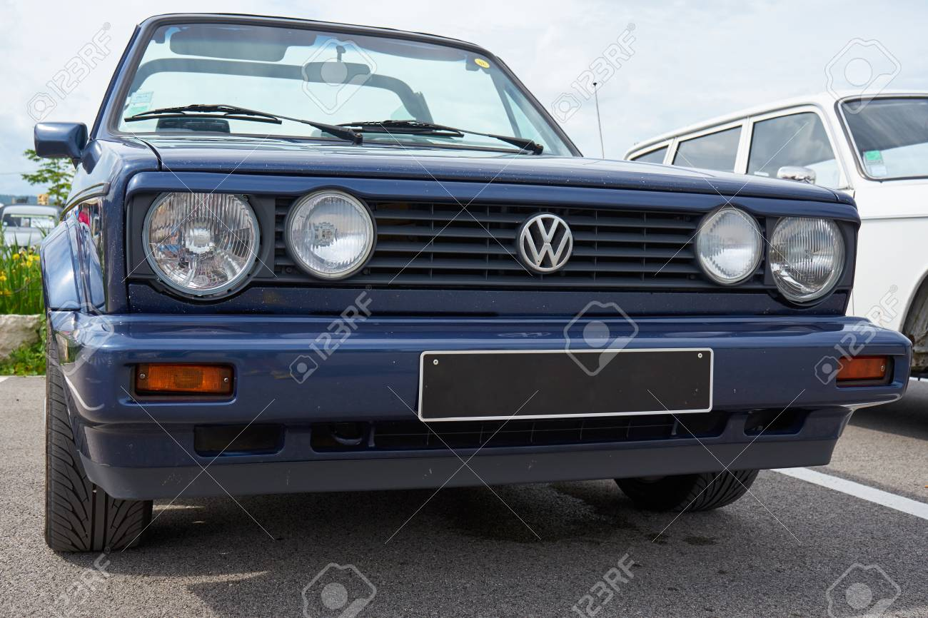 Houtaud Franche Comta C France June 2018 1980s Blue Volkswagen Golf