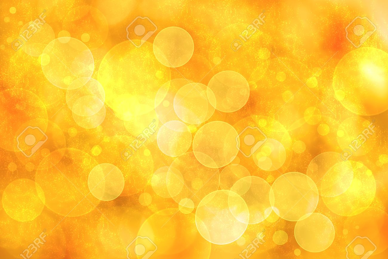 Abstract Orange Color Bokeh Circle Lights Background