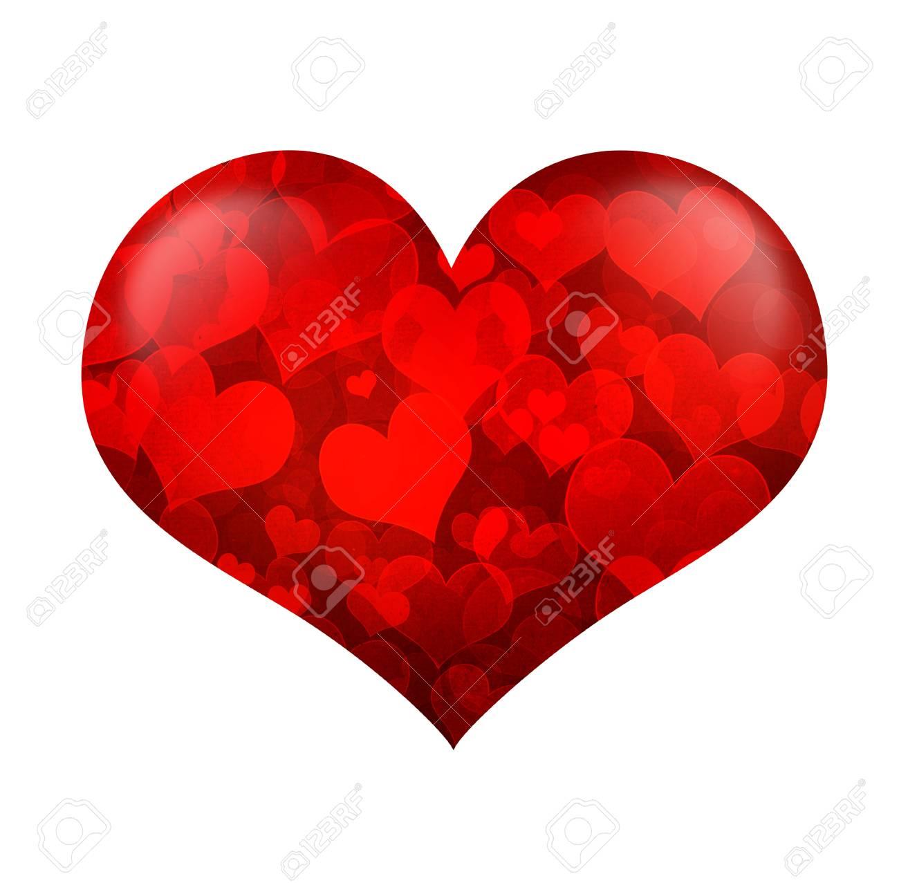 forme de coeur st valentin isolé sur fond blanc banque d'images et