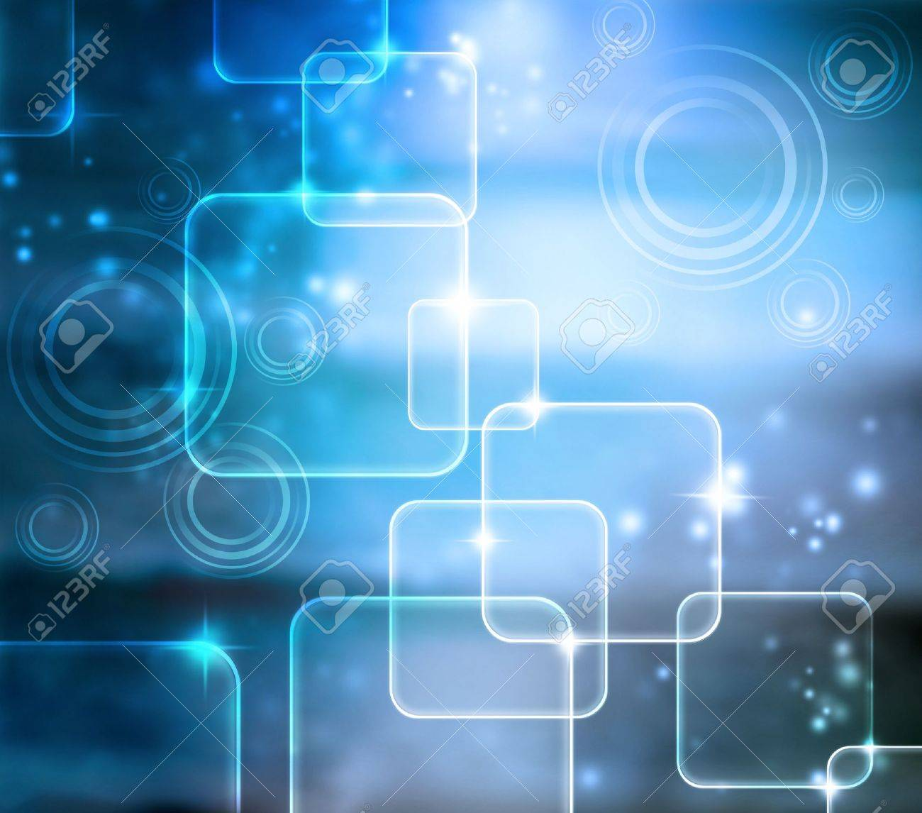 Abstract Tech Blue Shiny Background with Glares Stock Photo - 15314569