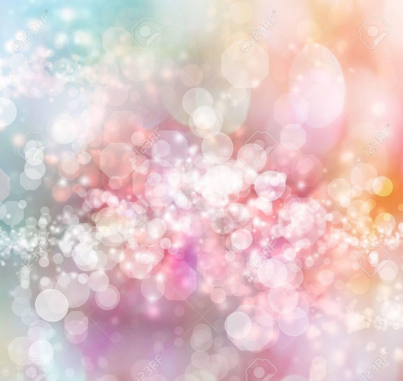 Blue - Pink - Orange Colored Abstract Lights Background Stock Photo - 16386064