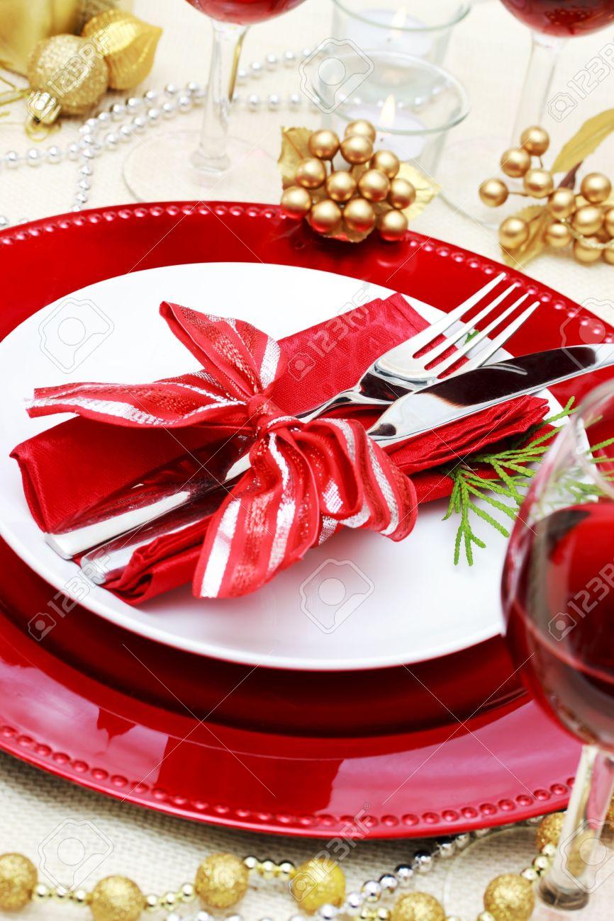 cena de navidad decorado la mesa para una foto de archivo 16485279