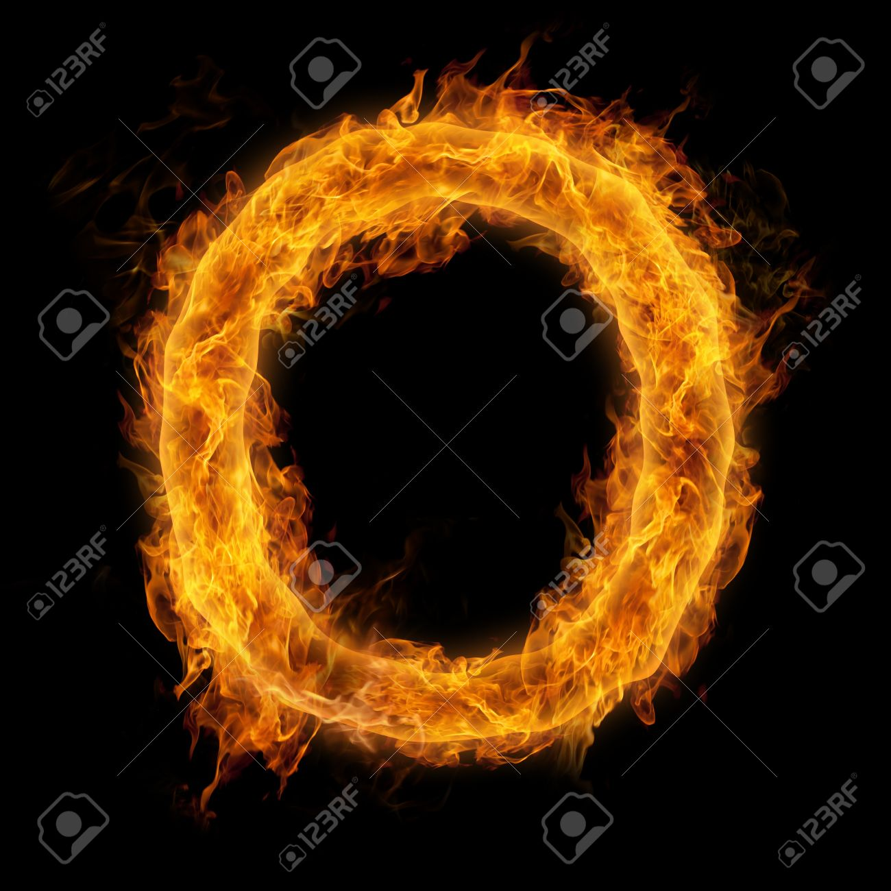 Fiery Uppercase Letter O Stock Photo Picture And Royalty Free Image