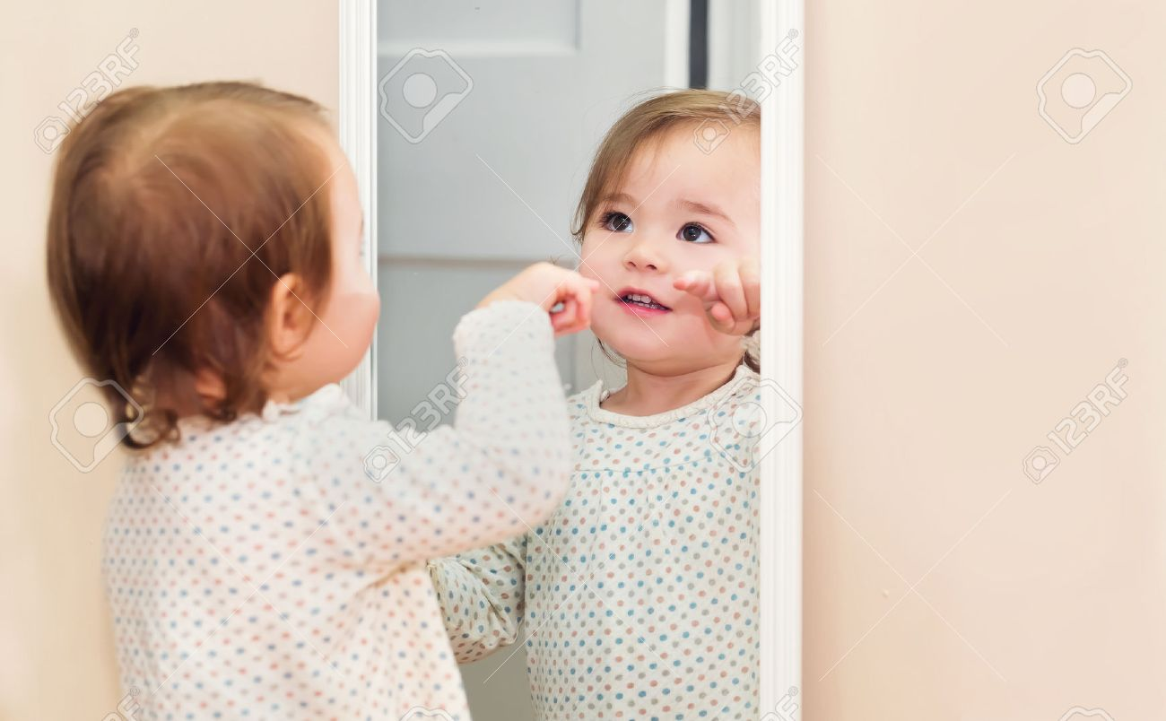 Image result for child looking in mirror