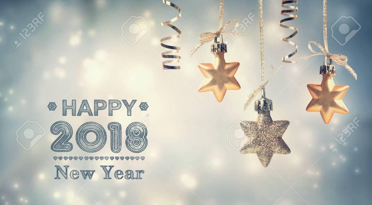 Guten Rutsch Ins Neue Jahr-Nachricht 2018 Mit Hängenden ...