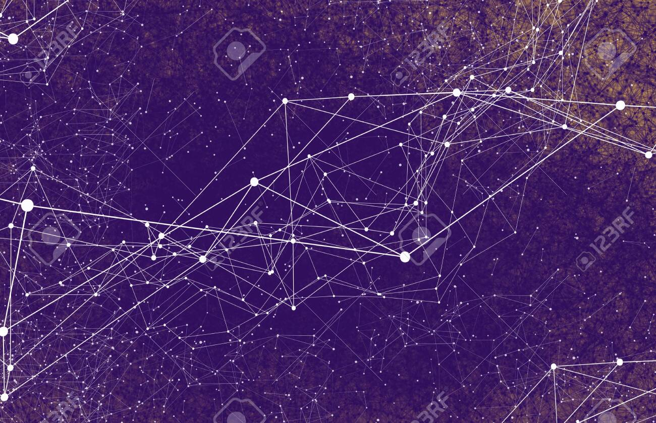 Abstract technology AI geometric futuristic lines - 133604974