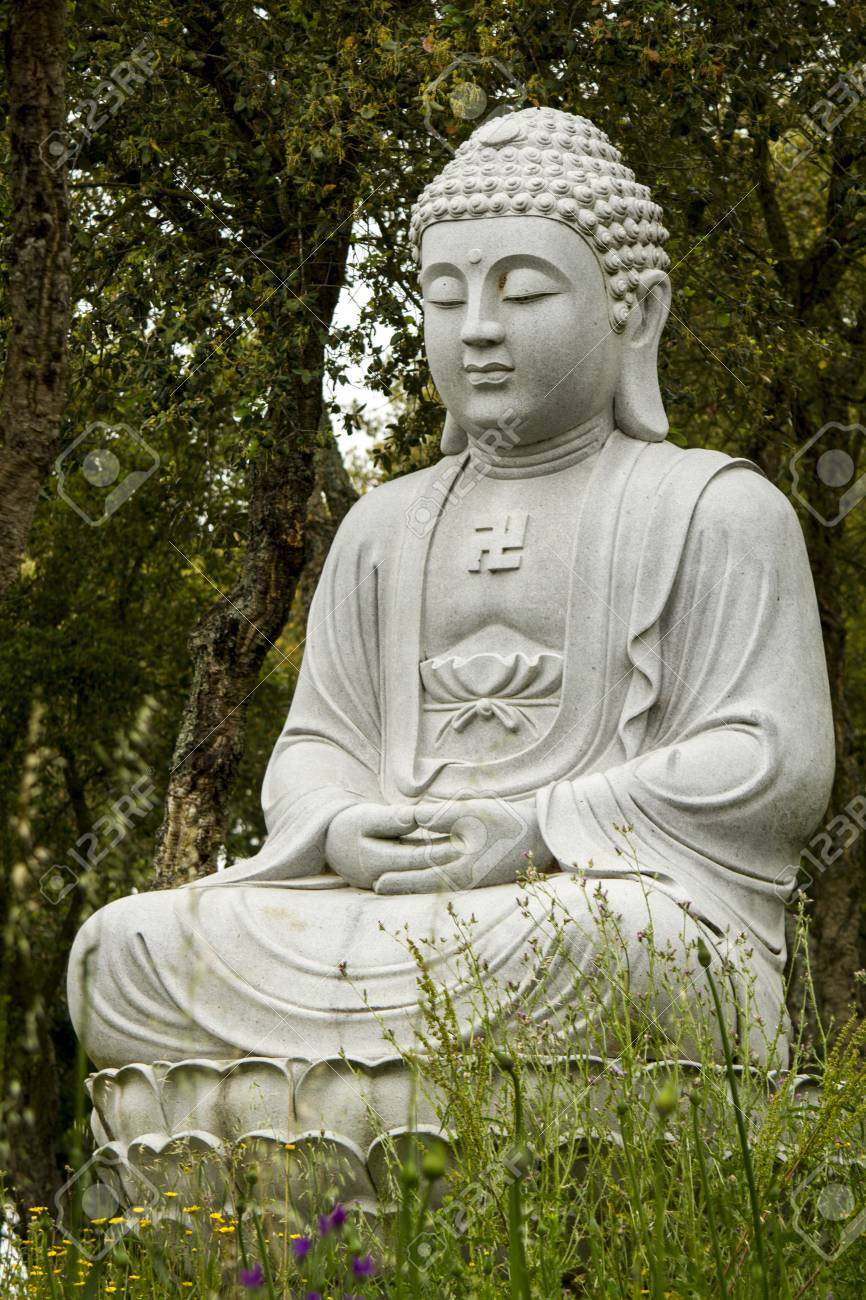 Close Up View Of A Beautiful Buddha Statue On A Park Stock Photo Picture And Royalty Free Image Image 34410926