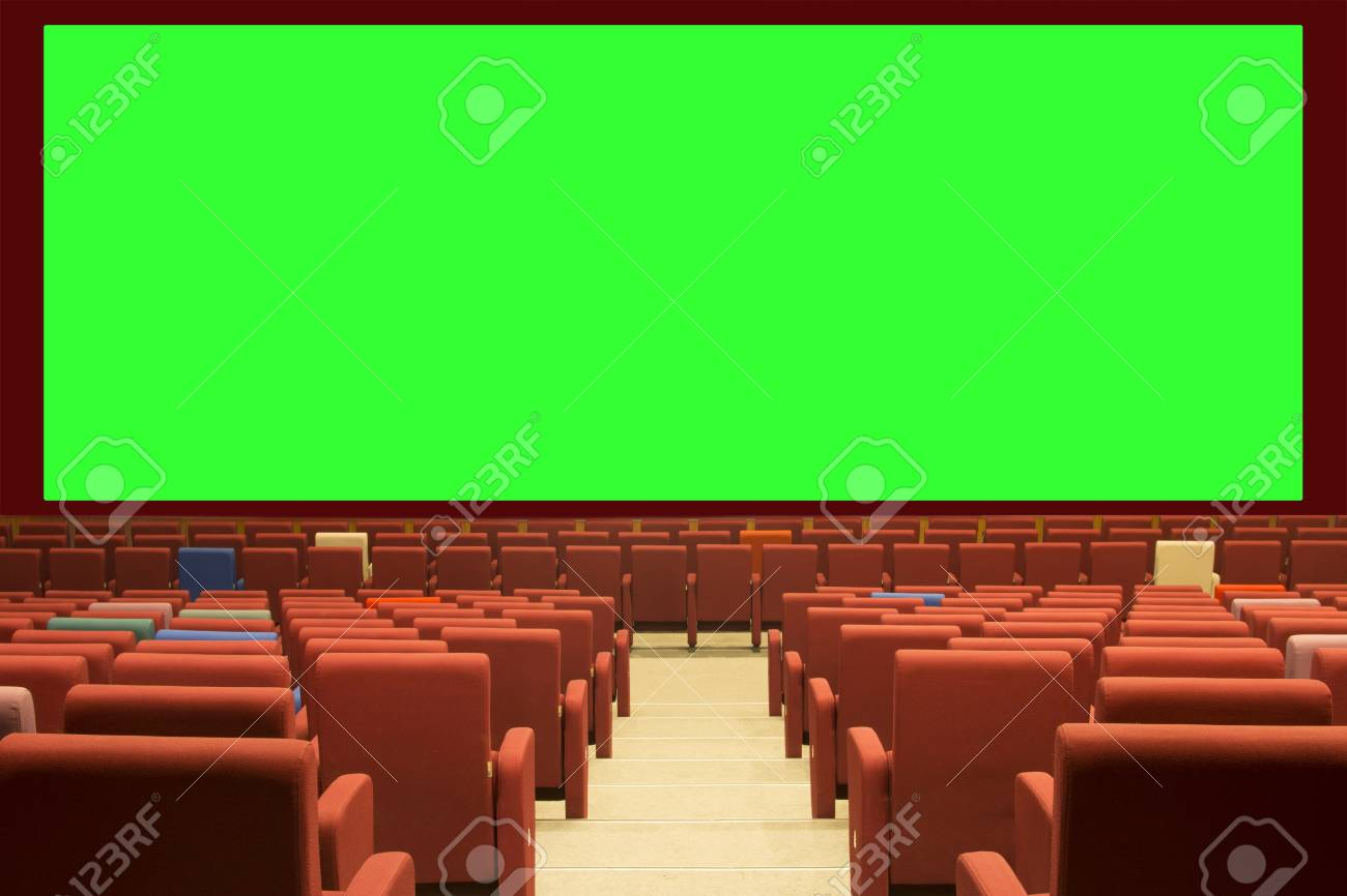 Green Cinema Screen And Red Seat Stock Photo Picture And Royalty Free Image Image 75981544