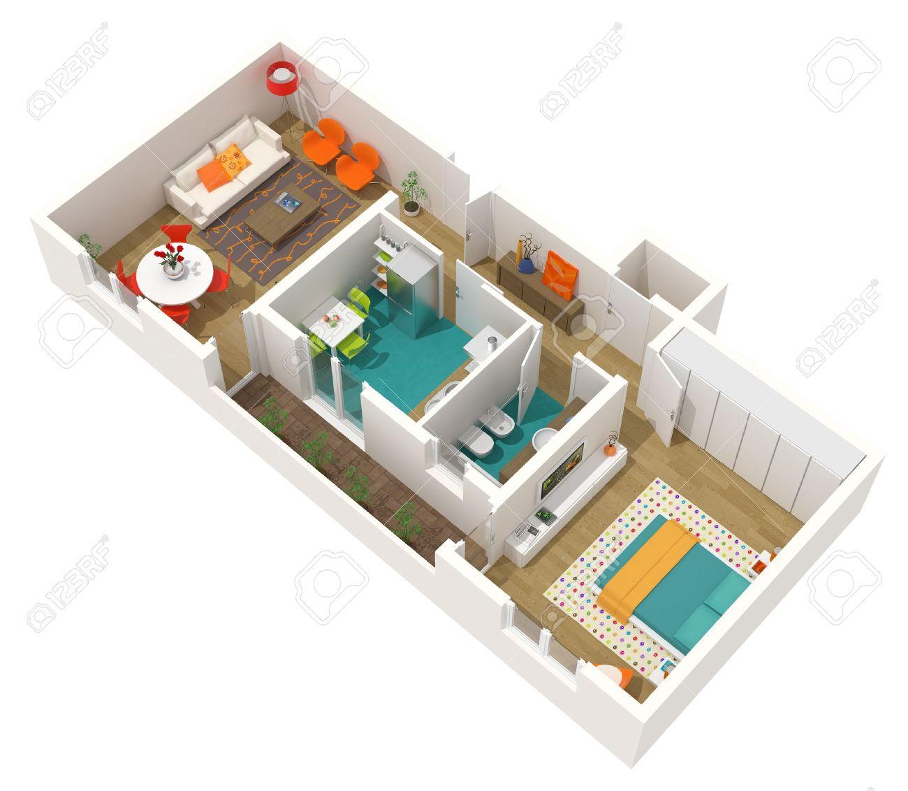 Moderne Innenarchitektur   21D Home Projekt   Wohnung. Hohe ...