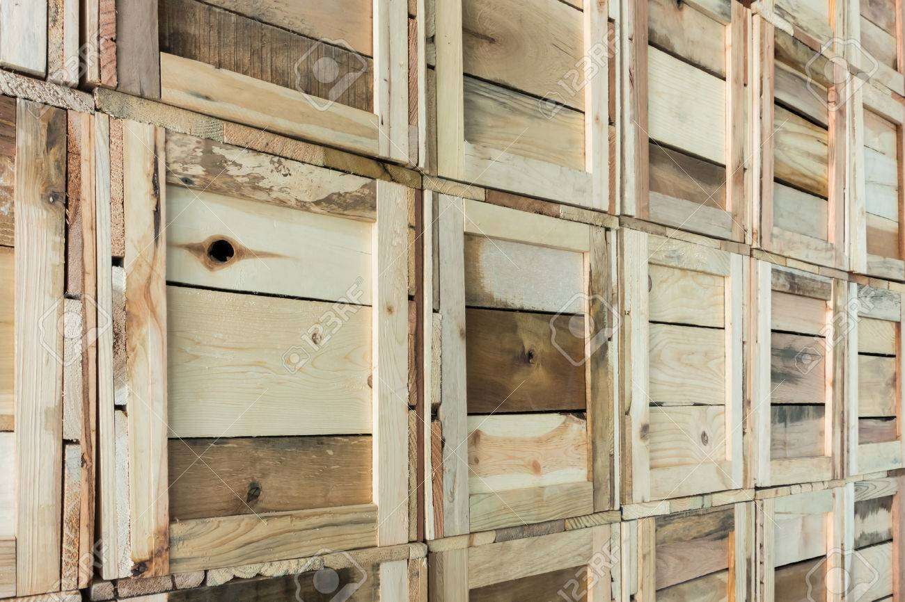Clean Storage Warehouse With Custom Crates Storage Solutions With Crates  Made Of Wood Interior, Logistics