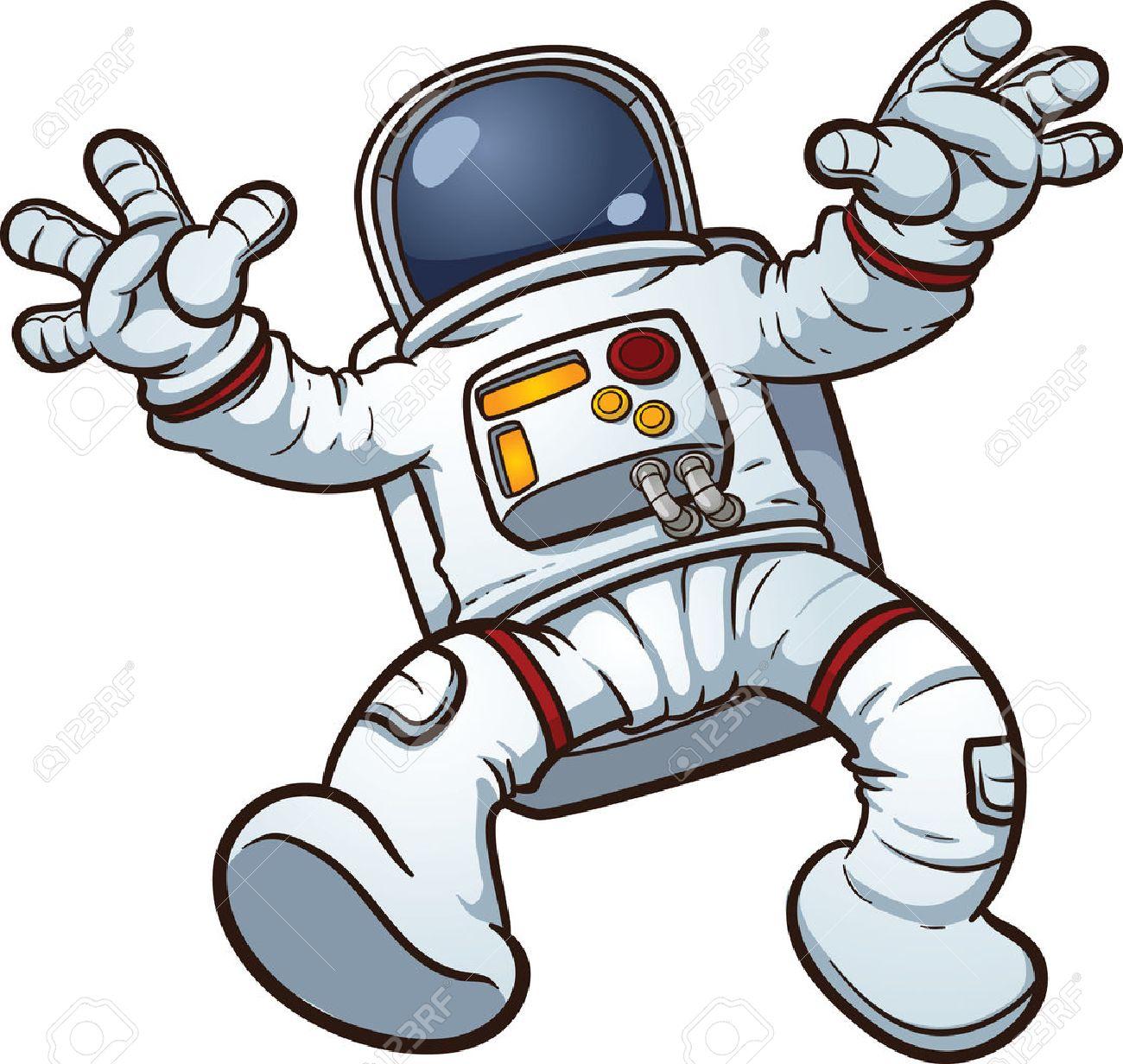 astronaut clip art vector cartoon illustration with simple gradients rh 123rf com