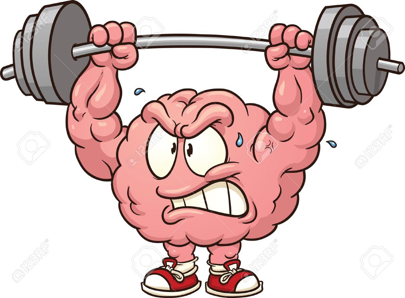strong weightlifting brain clip art vector cartoon illustration rh 123rf com strong clipboards strong clipboards