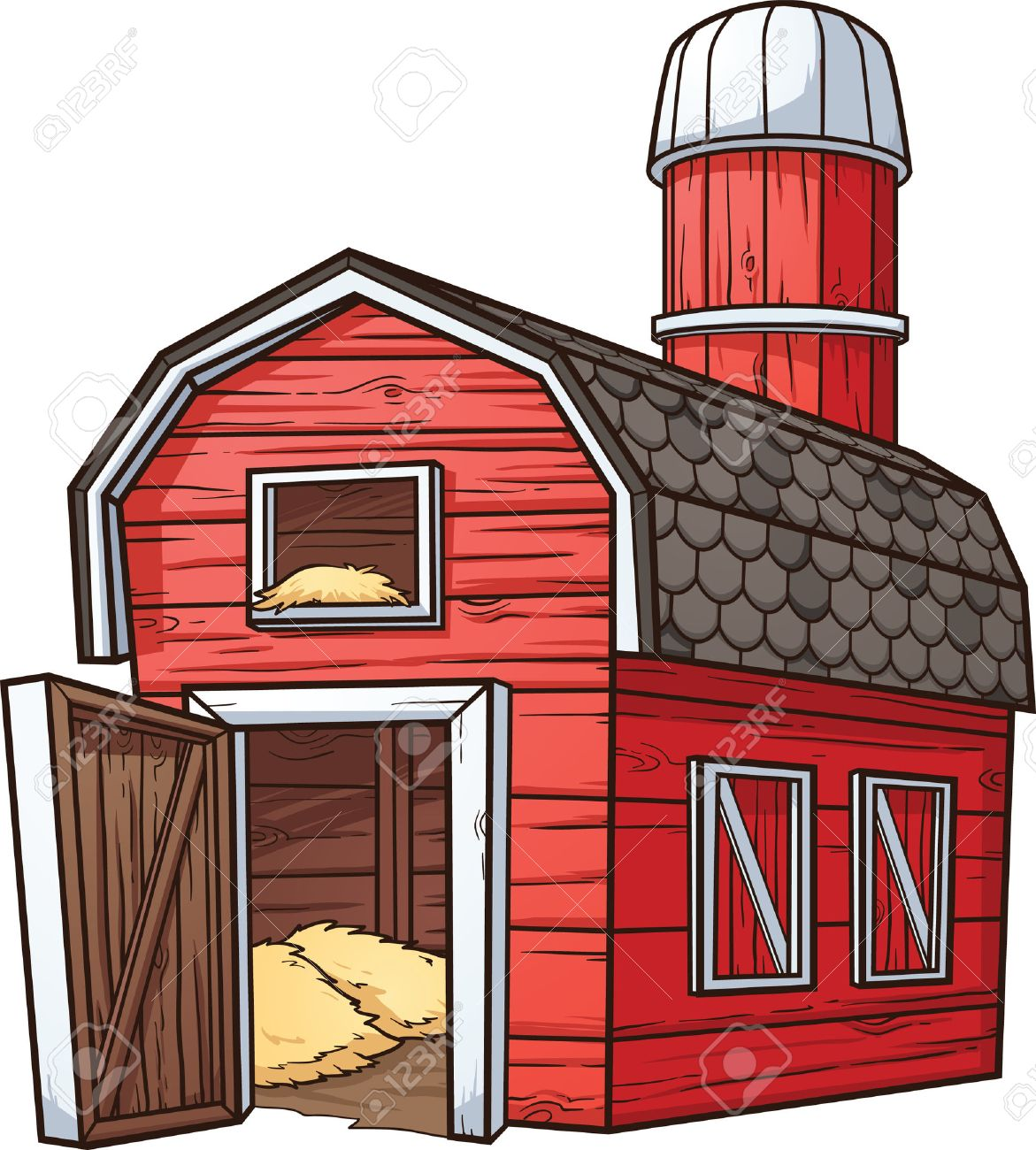 red cartoon barn royalty free cliparts vectors and stock rh 123rf com cartoon barn owl cartoon barn images