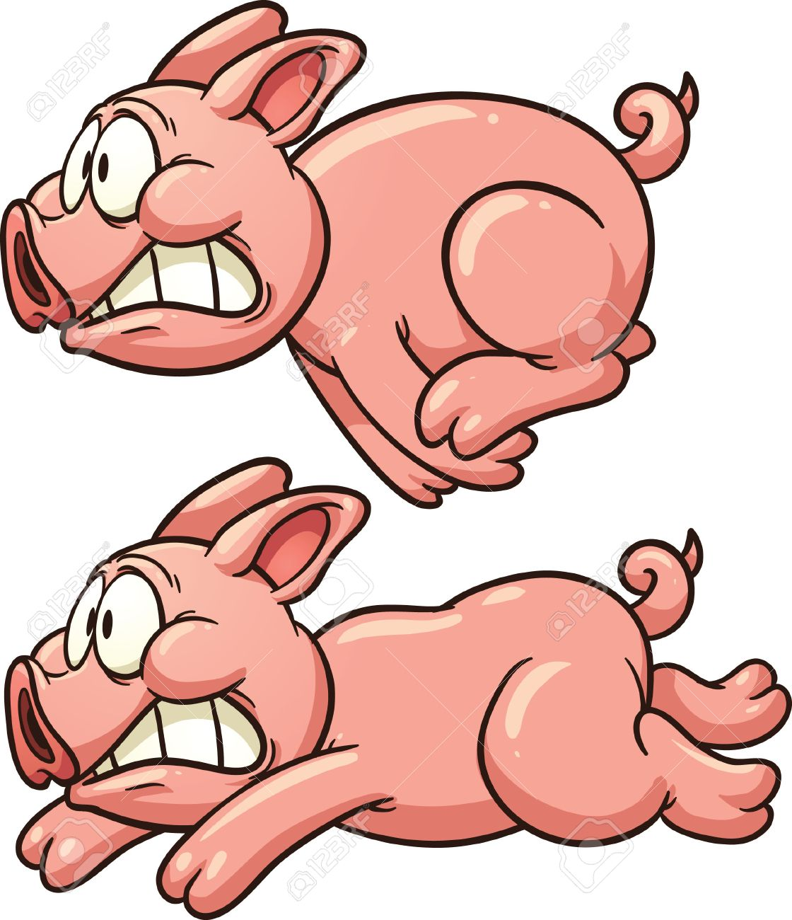 scared pig running vector clip art illustration with simple rh 123rf com pig clipart png pig clipart png