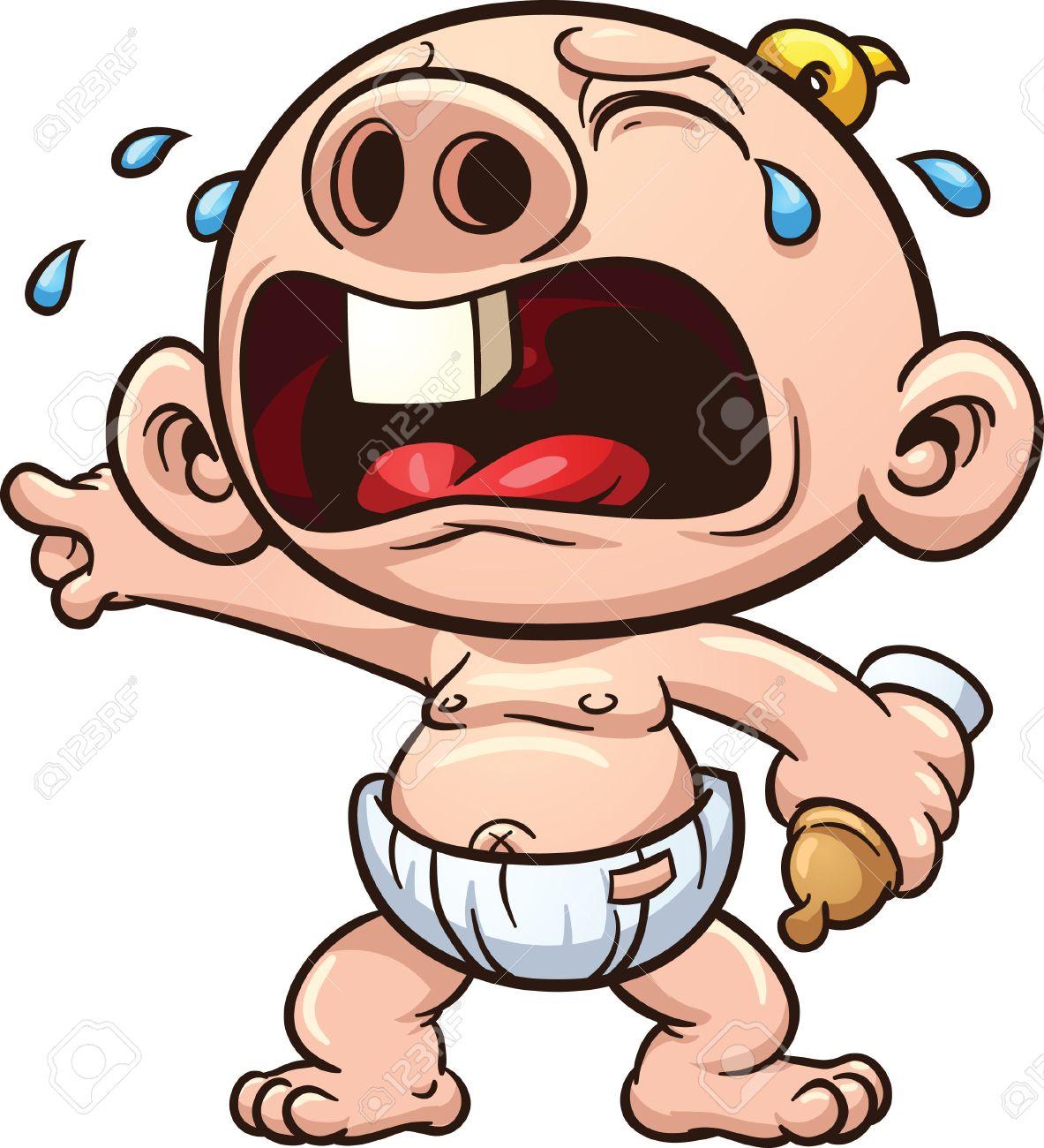 Cartoon baby crying illustration - 31491518
