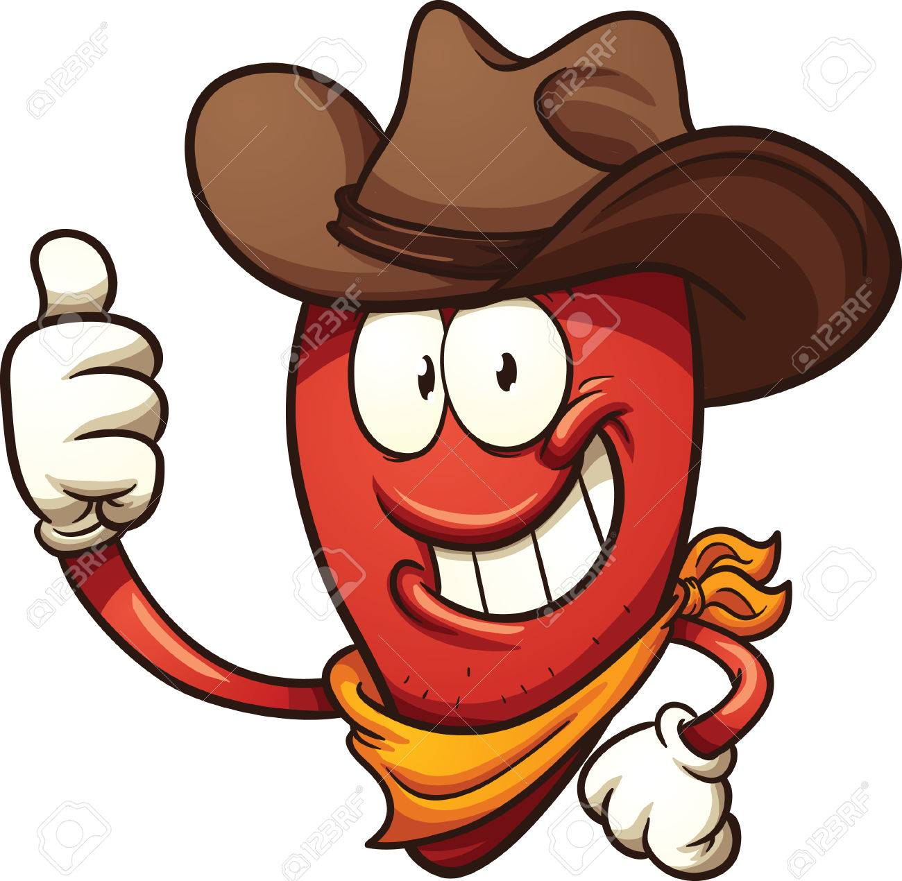 cowboy chili pepper vector clip art illustration with simple rh 123rf com cowboy clipart images cowboy cartoon clipart images