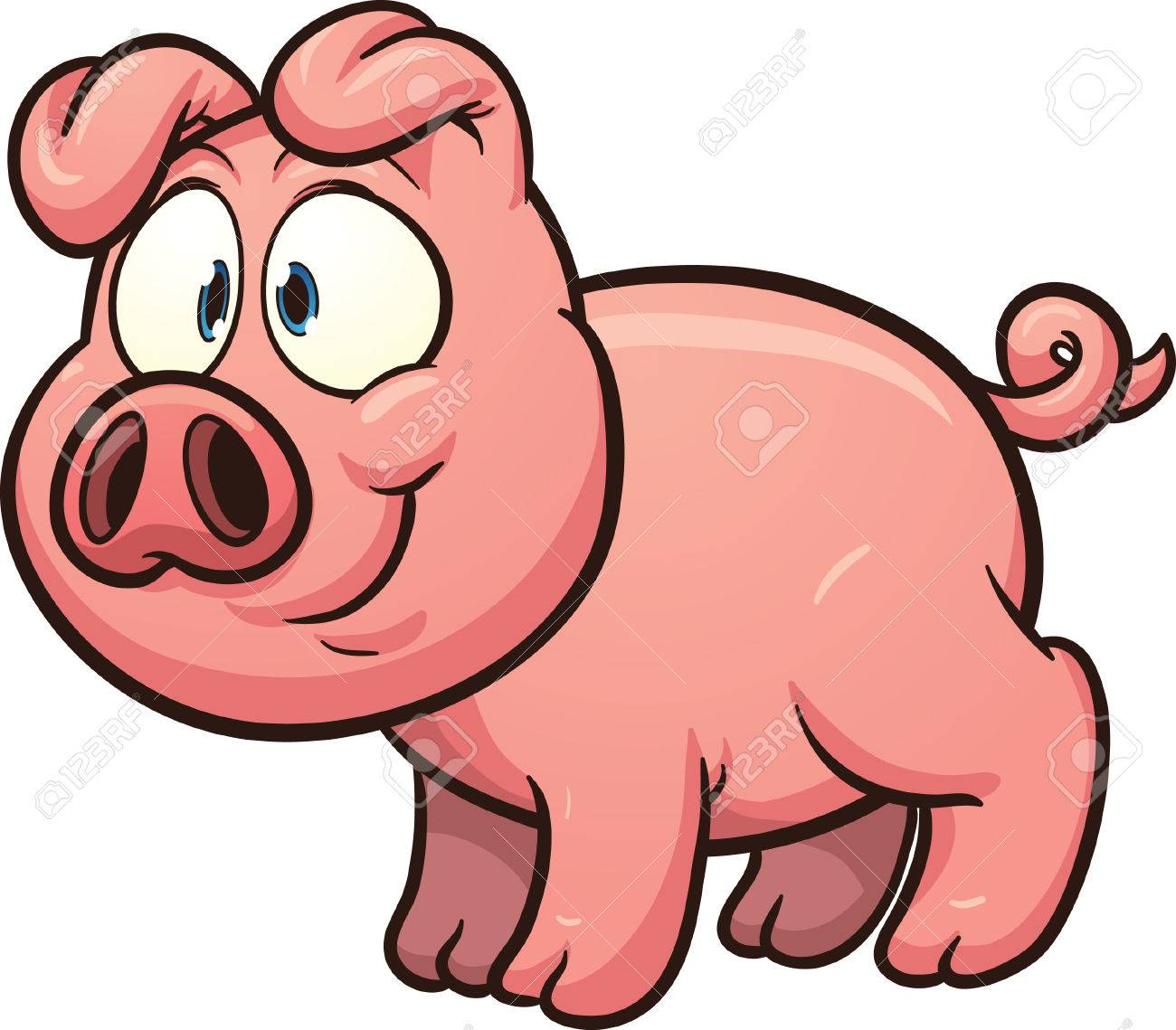 little cartoon pig vector clip art illustration with simple rh 123rf com pig vector outline pig vector file