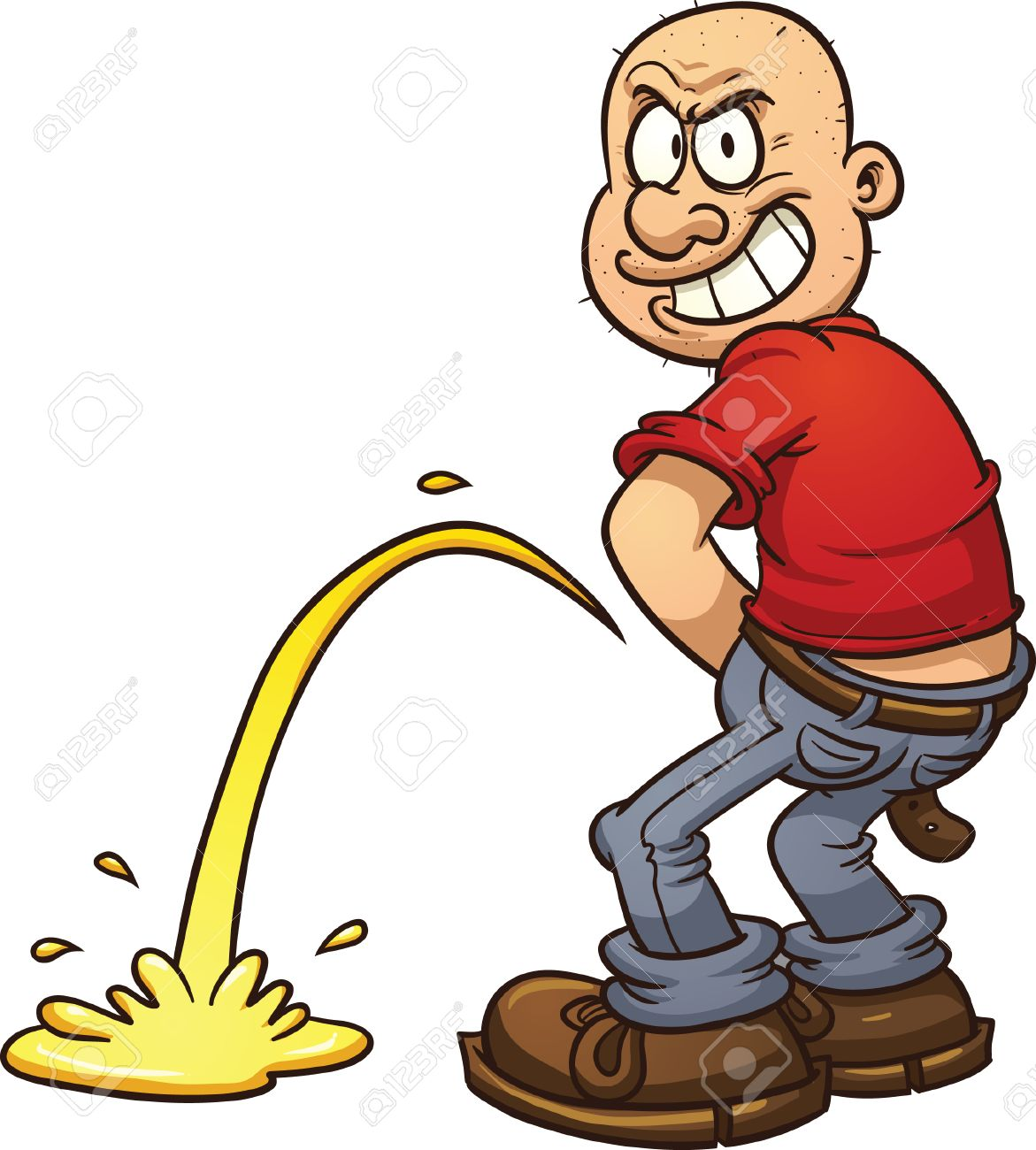 mischievous man peeing vector clip art illustration with simple rh 123rf com vector clip art software vector clip art collections