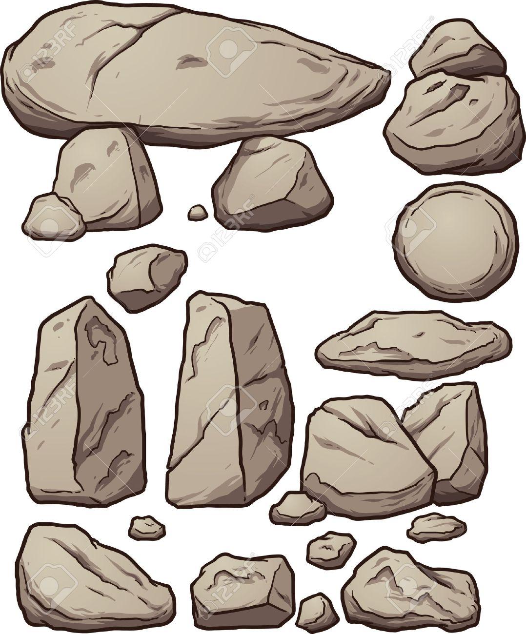 漫画岩。シンプルなグラデーション ベクター クリップ アート イラスト