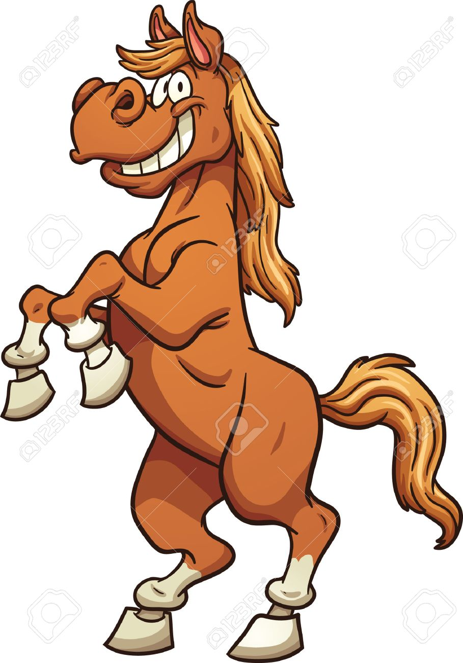 Cartoon Horse Standing On Two Legs Vector Clip Art Illustration Royalty Free Cliparts Vectors And Stock Illustration Image 40547526