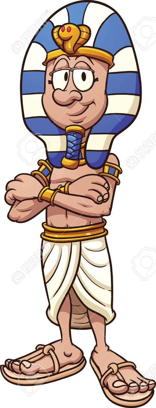 cartoon pharaoh vector clip art illustration with simple gradients rh 123rf com egyptian pharaoh clipart pharaoh headdress clipart