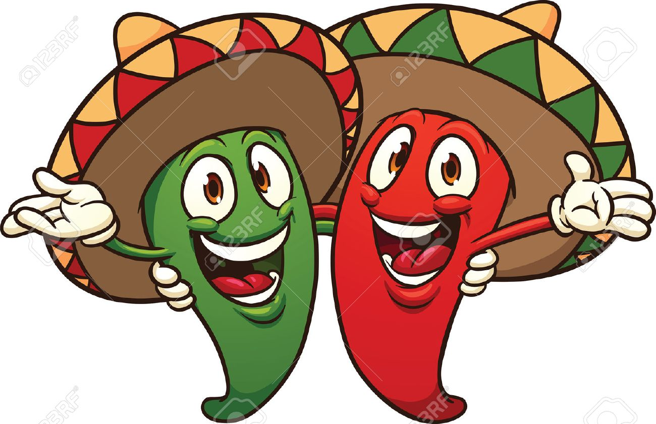 happy cartoon mexican chili peppers vector clip art illustration rh 123rf com peppers clipart hot pepper clipart