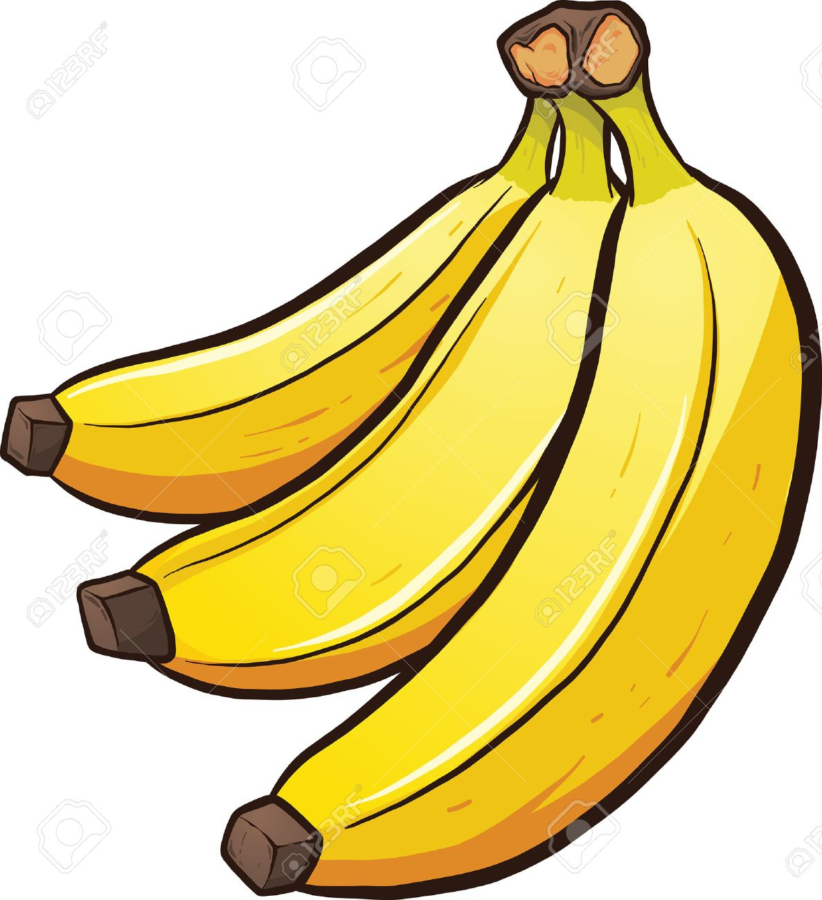a bundle of cartoon bananas vector clip art illustration with rh 123rf com clip art banana split clip art banana tree