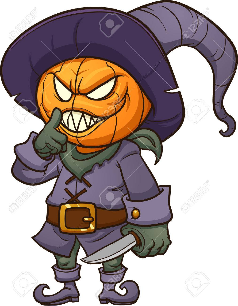 Halloween Scary Clipart.Scary Halloween Monster Vector Clip Art Illustration With Simple Royalty Free Cliparts Vectors And Stock Illustration Image 69777422