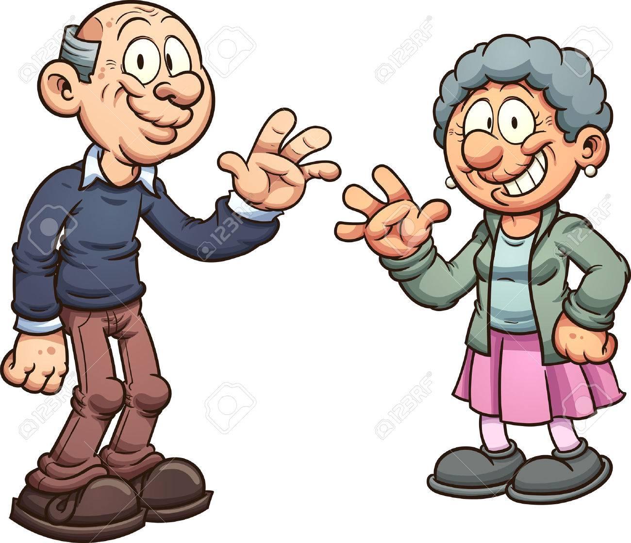 cartoon grandparents vector clip art illustration with simple rh 123rf com grandparents day 2016 images clip art