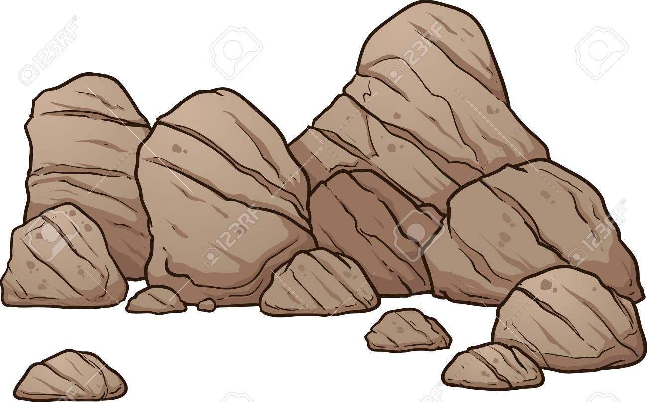 Rocas De Dibujos Animados Y Rocas Vector La Ilustración Del Arte De