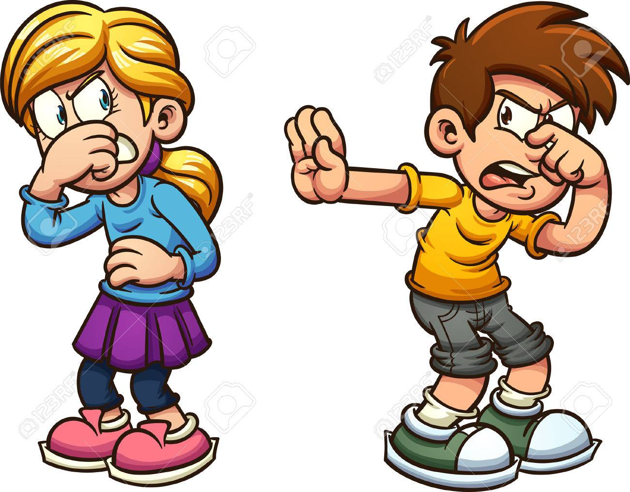 disgusted cartoon boy and girl vector clip art illustration rh 123rf com boy and girl clipart free boy and girl clipart images