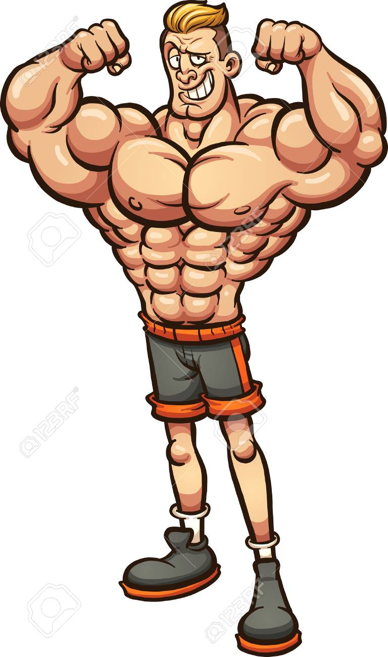 strong man with skinny legs vector clip art illustration with rh 123rf com string clip art strong clips for ear ring making