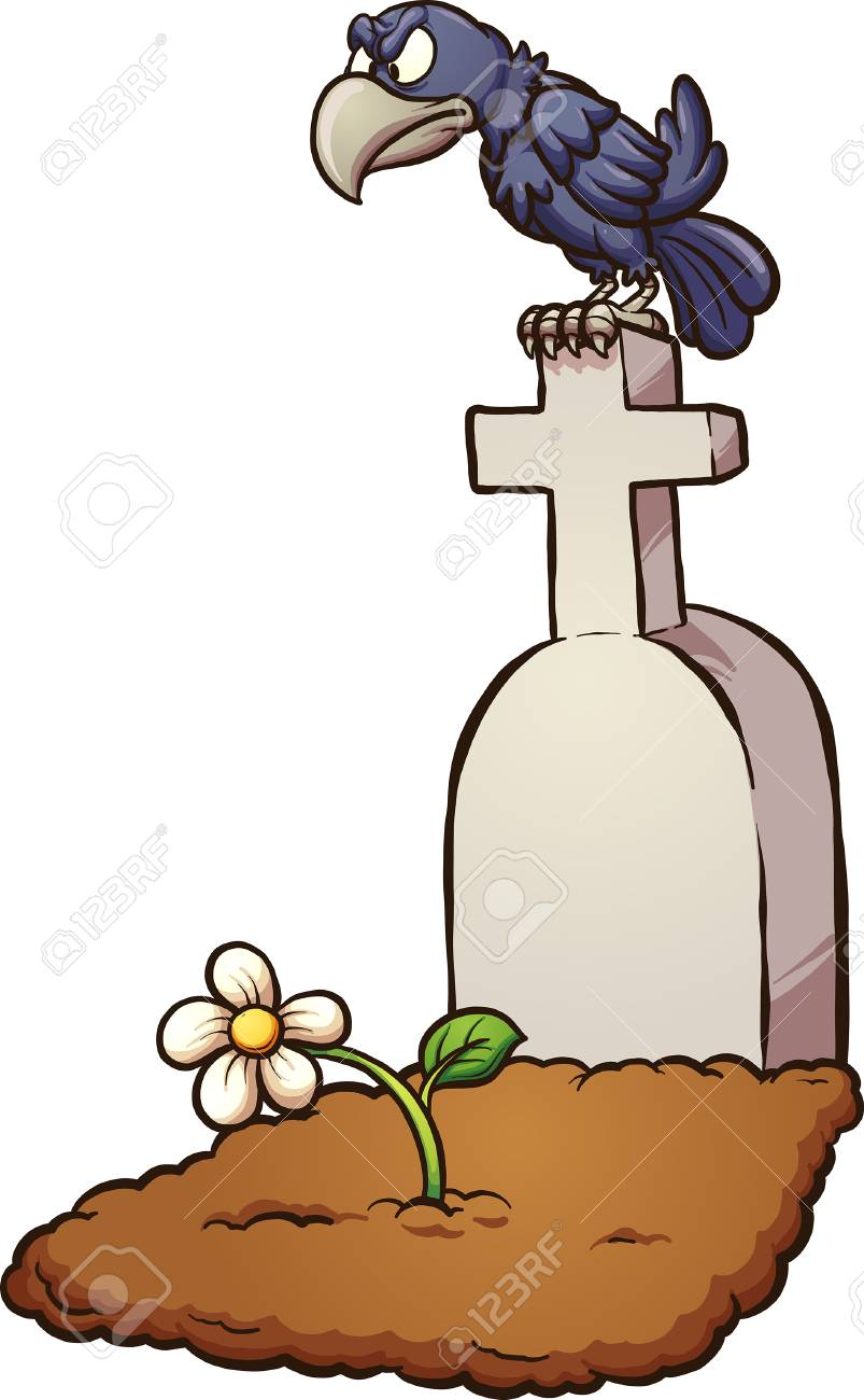 crow sitting on tombstone vector clip art illustration with rh 123rf com tombstone vector free download tombstones victorian gardens